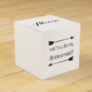 Personalised Bridesmaid Proposal Favour Box