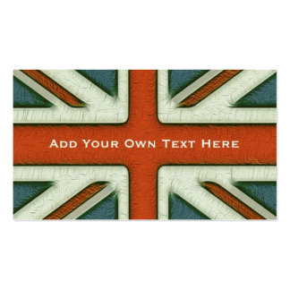 Personalised British Flag Pack Of Standard Business Cards