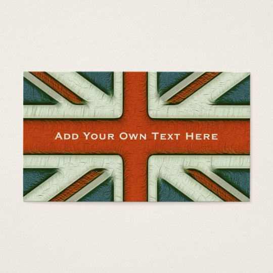 Personalised British Flag Business Card
