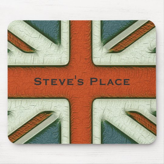 Personalised British Flag Mouse Mat