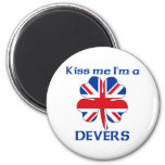 Personalised British Kiss Me I'm Devers Magnets