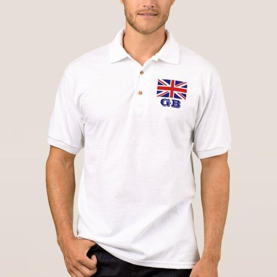 Personalised British Union Jack flag polo shirts