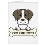 Personalised Brittany Spaniel Greeting Card