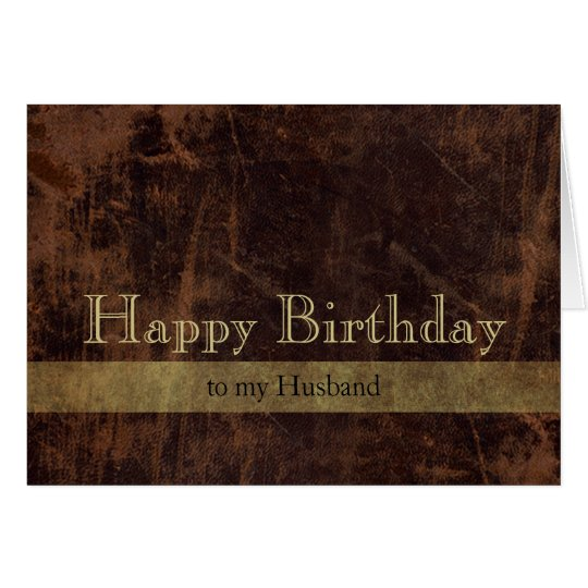 Personalised Brown/Gold Happy Birthday Masculine Card