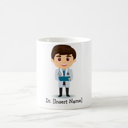 Personalised Brunette Male Doctor Coffee Mug