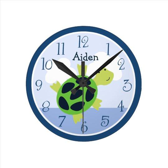 Personalised Bubbles Turtle Kids Clock