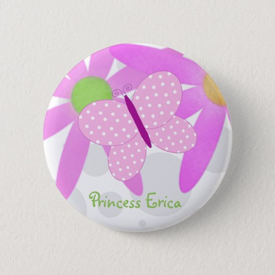 Personalised Butterfly Button