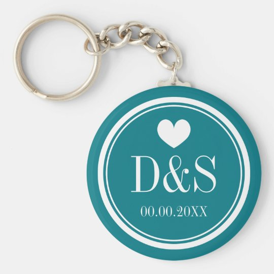 Personalised button keychains for newlywed couples