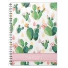 Personalised Cactus Print Notebook