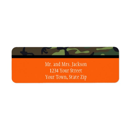 Personalised Camo Postage Stamps