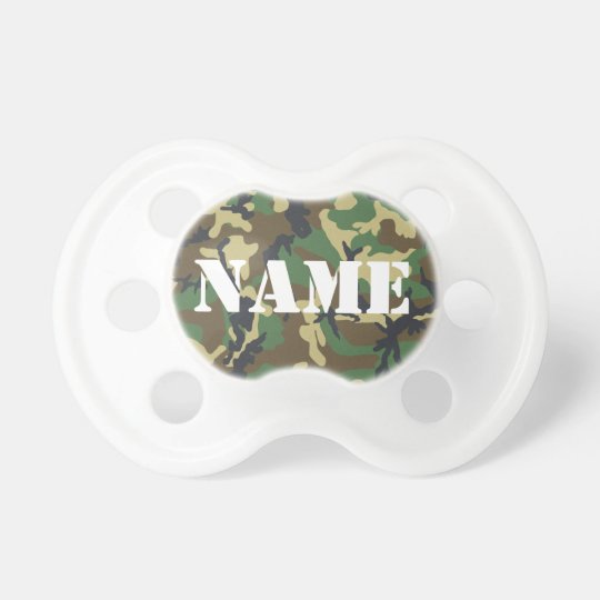 Personalised Camouflage Pacifier