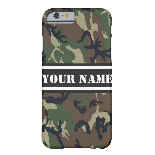 Personalised Camouflage Pattern Barely There iPhone 6 Case