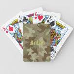 Personalised Camouflage Playing Cards