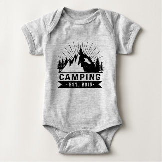 Personalised Camping Baby Bodysuit