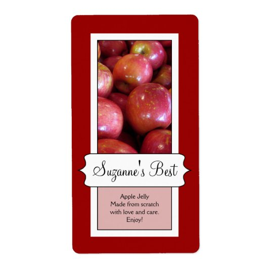 Personalised Canning Jar Label, Apple Shipping Label
