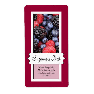 Personalised Canning Jar Label, Berries Shipping Label