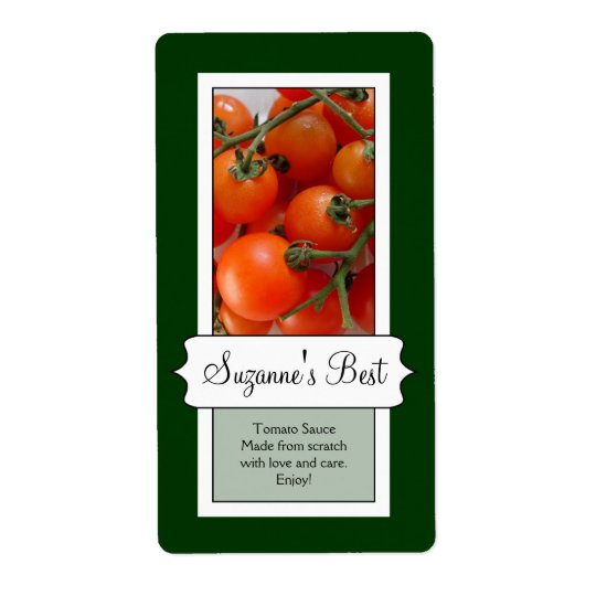 Personalised Canning Jar Label, Tomato