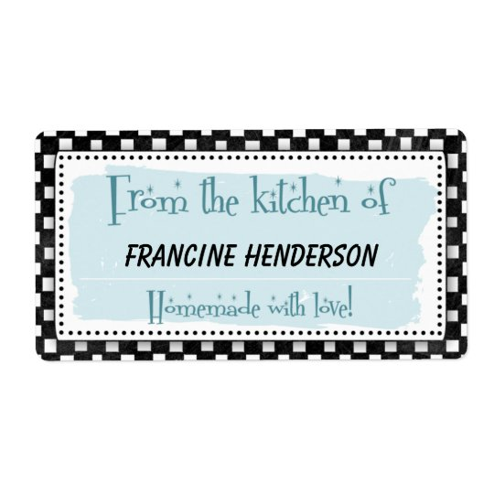 Personalised Canning Labels - black & white retro