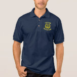 Personalised captain and boat name with anchor polo shirt