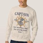 Personalised Captain First Mate Skipper Crew Sweatshirt