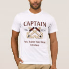 Personalised Captain First Mate Skipper Gear T-Shirt
