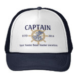 Personalised Captain First Mate Skipper Your Hat
