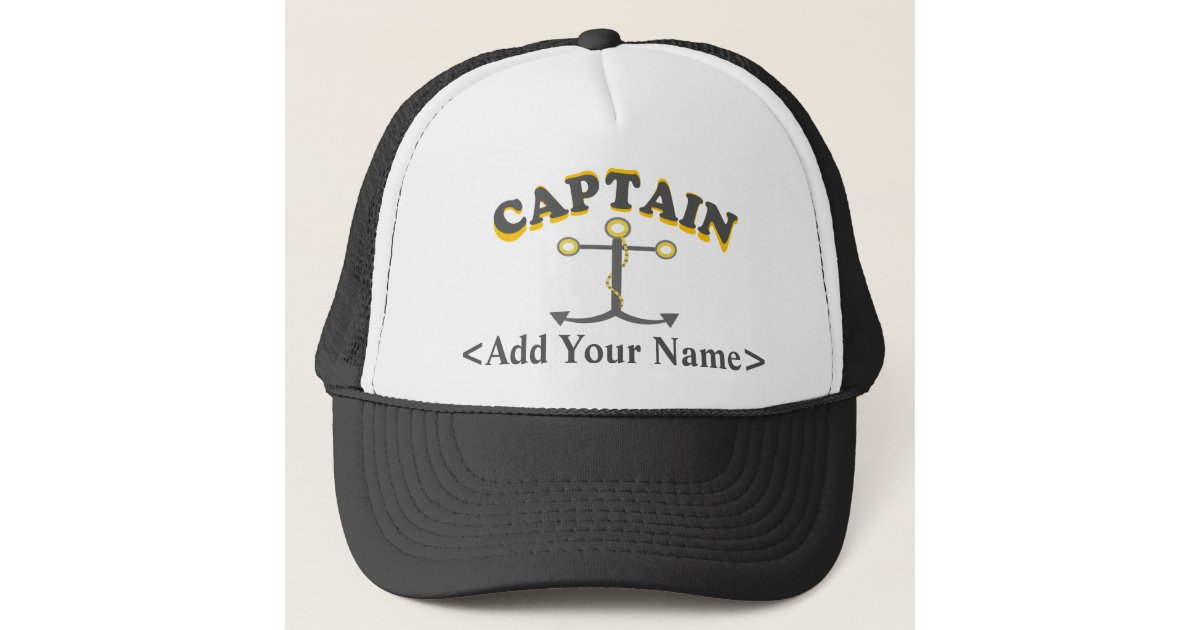 c905a85147 Personalised Captain Hat