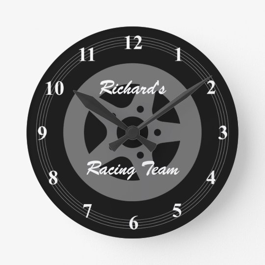 Personalised car wheel tire and rim wall clock