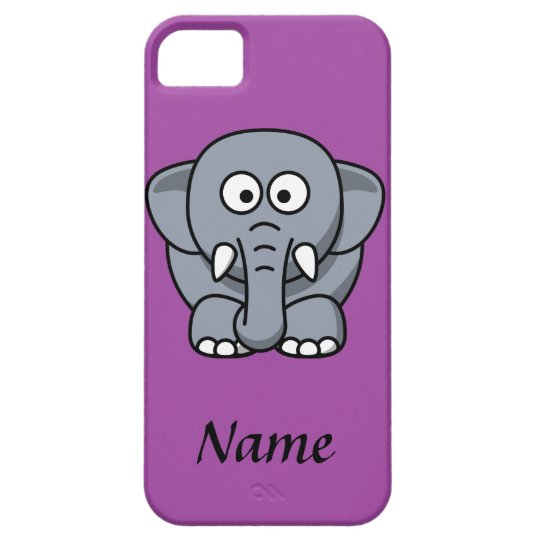 Personalised Cartoon Elephant Case For The iPhone 5