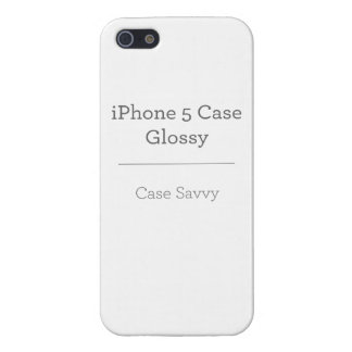Personalised Case-Savvy iPhone 5 Glossy Cover iPhone 5/5S Covers