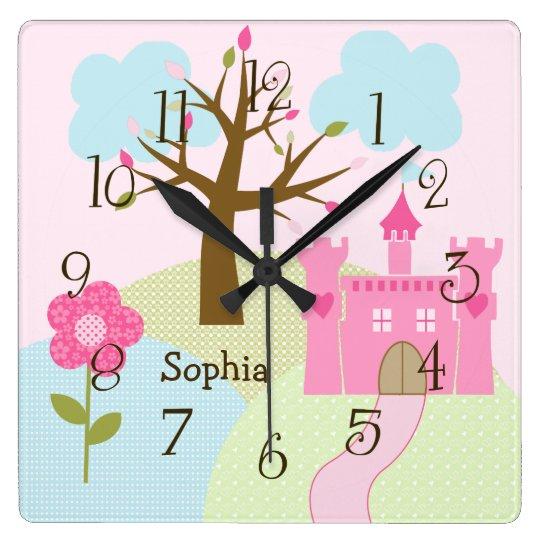 Personalised Castle/Dreams Come True Nursery Clock