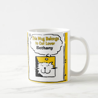 Personalised Cat Lover Mug