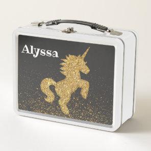 Personalised Changeable Name Unicorn Lunchbox