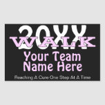 Personalised Charity Walk Sticker