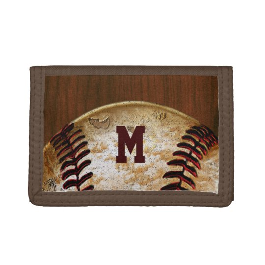 Personalised Cheap Baseball Team Gifts Trifold Wallets