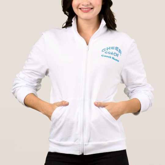 Personalised Cheer Coach Jackets with 3 TEXT BOXES