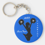 Personalised Cheer Squad Gifts with 3 Text Boxes Basic Round Button Key Ring