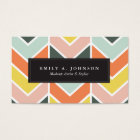 Personalised | Cheerful Chevron by Origami Prints Business Card