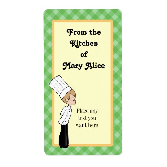 Personalised Chef Large Label #1 Shipping Label