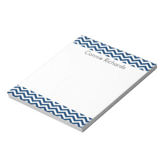 Personalised Chevron Notepad - navy