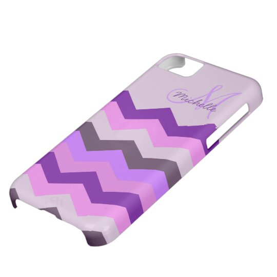 Personalised Chevron Purple Blast iPhone 5C Case