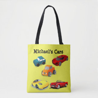 """Personalised Child's """"Toy Cars"""" Bag"""