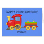 Personalised Child's Train Birthday Card
