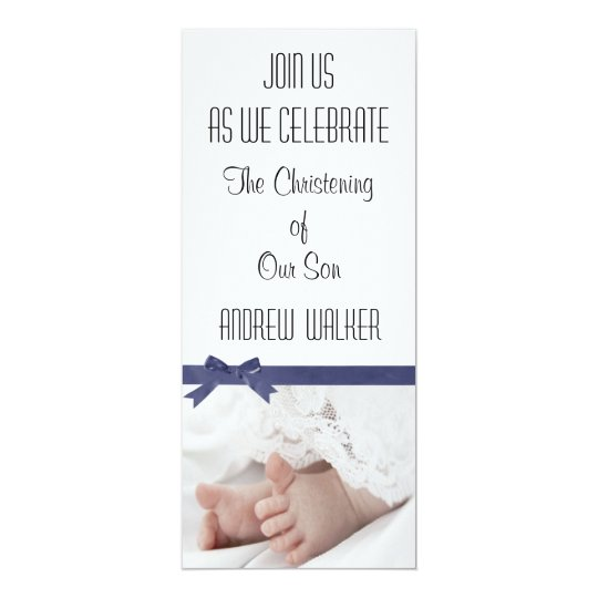 Personalised Christening Invitation for Baby Boy