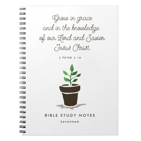 Personalised Christian Bible Study Notebook