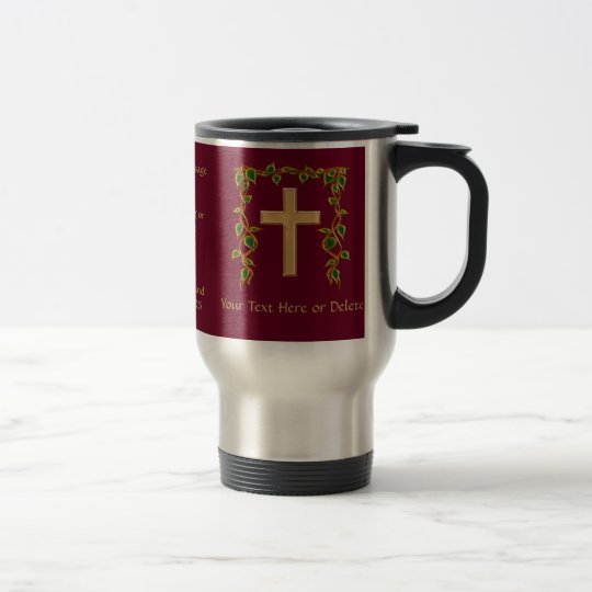 Personalised Christian Gifts with YOUR TEXT Travel Mug