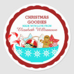 Personalised Christmas Baked Goods Round Sticker