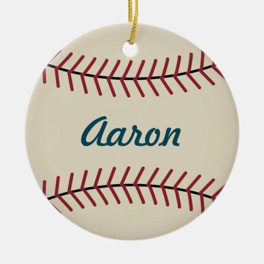 Personalised Christmas Baseball Sports Ornament