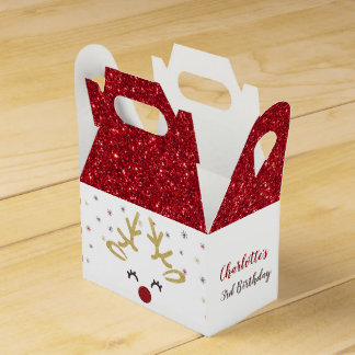 Personalised Christmas Favour Boxes
