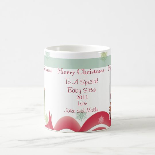 Personalised Christmas Gifts Babysitter Photo Mugs